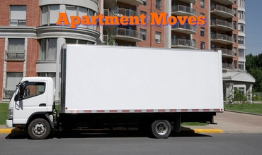 Apartment Building W Moving Van Parked Outside w Text 370 x 220