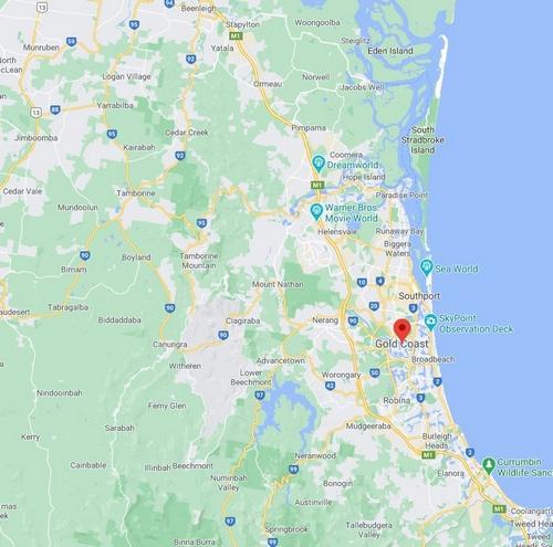 Gold Coast Map 500 x 495