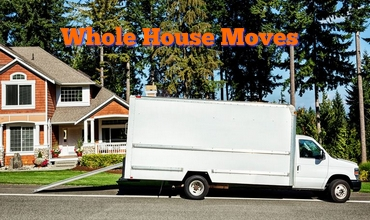 Large House W Moving Van Parked Outside w Text 370 x 220